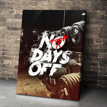 No Days Off Canvas Set