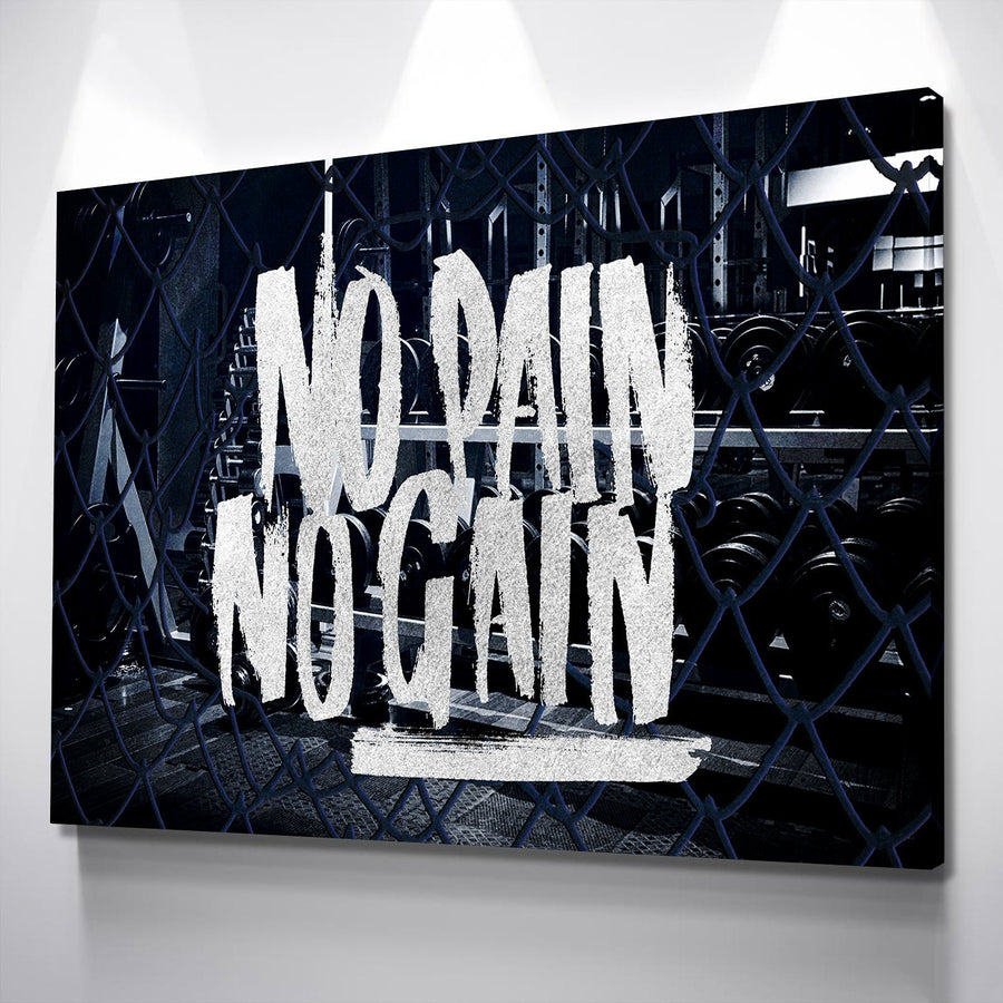 No Pain No Gain Canvas Set