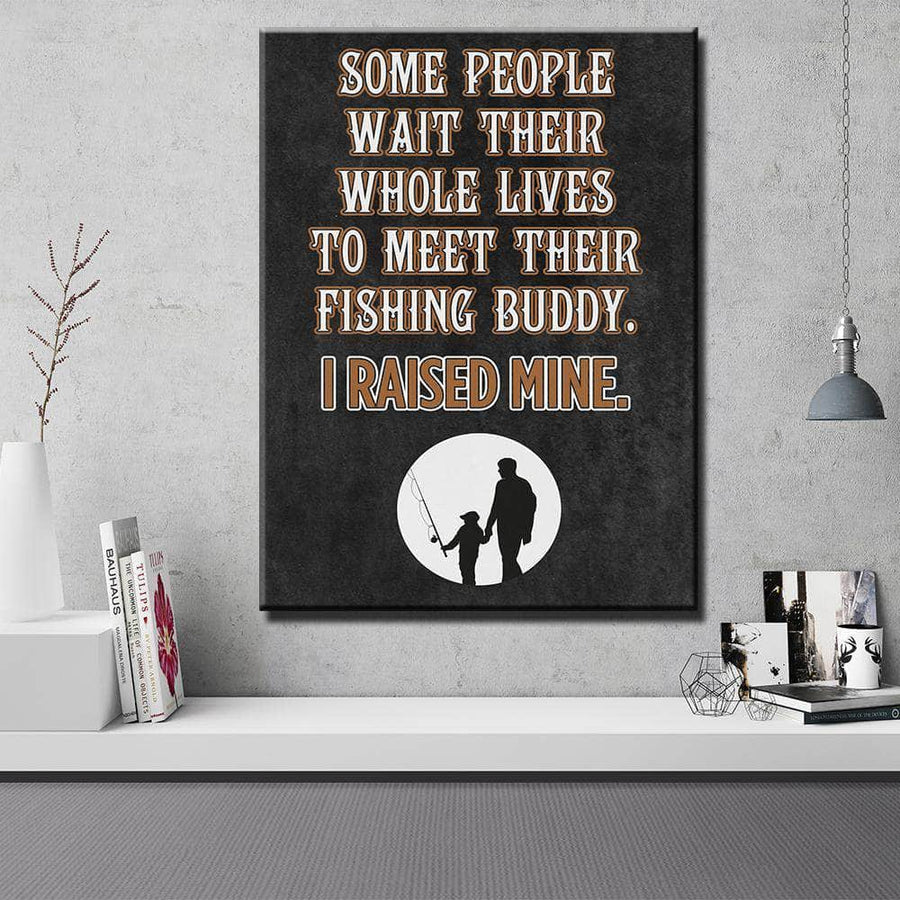 Fishing Buddy Father's Day Canvas Set