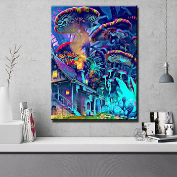 Vertical Shroom World Canvas Set