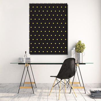 Yellow-Polka Dots Canvas Set