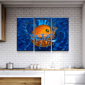 Orange Kitchen and Dining Room Wall Decor Canvas Set