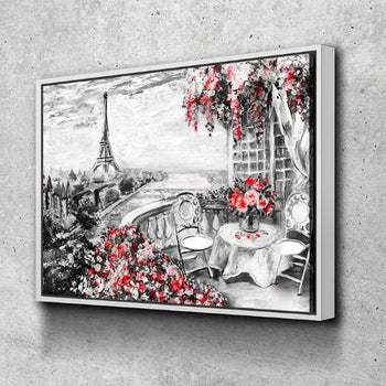 Paris In Bloom Canvas Set