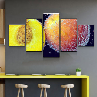 Peach Kitchen and Dining Room Wall Decor Canvas Set - Canvas Freaks