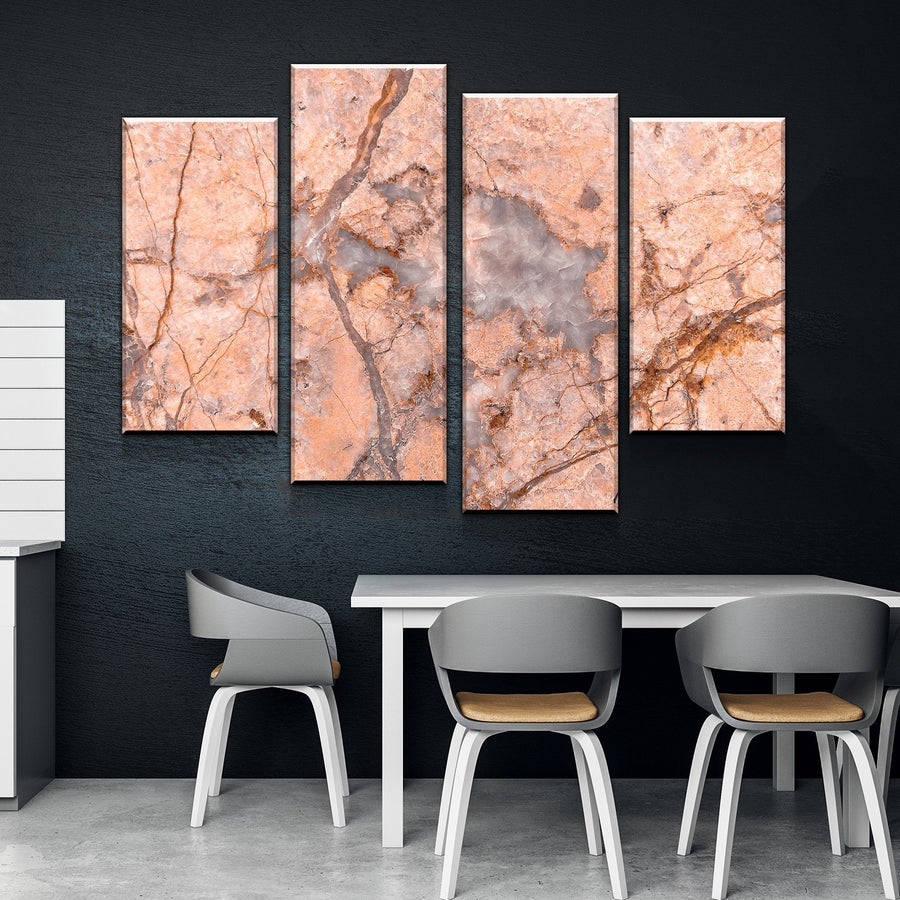 Peach Marble Canvas Set