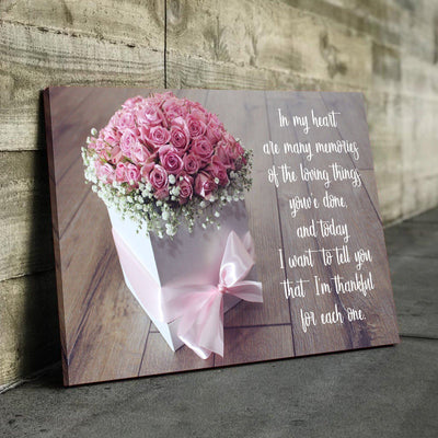 Pink Bow of Love Canvas Set