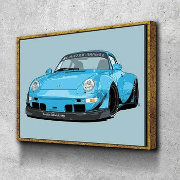 RWB Porsche 993 Canvas Set