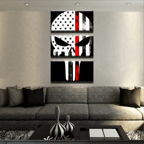 Thin Red Line Punisher Canvas Set