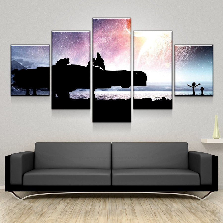 Space Falcon Visit Canvas Set