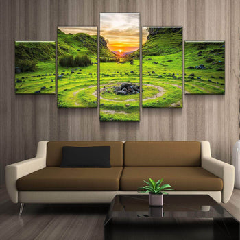 Rock Ovals Canvas Set
