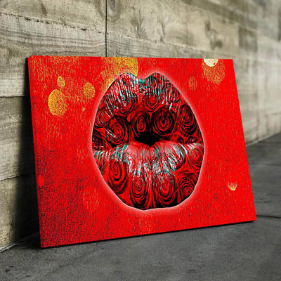 Rose Lips Canvas Set