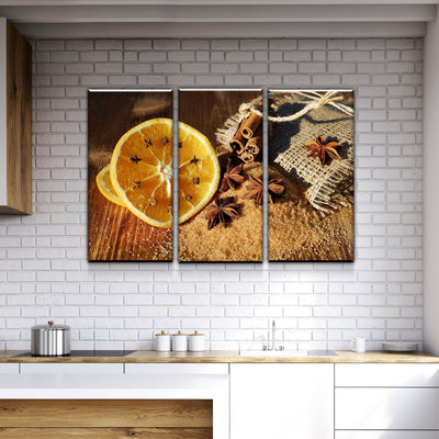 Rustic Kitchen and Dining Room Wall Decor Canvas Set