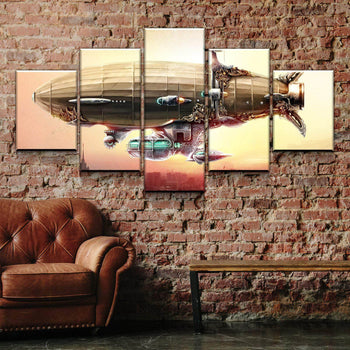 Sci Fi Airship Canvas Set
