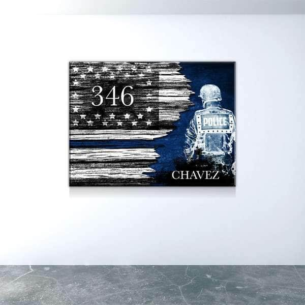 Thin Blue Line officer Custom Canvas Set
