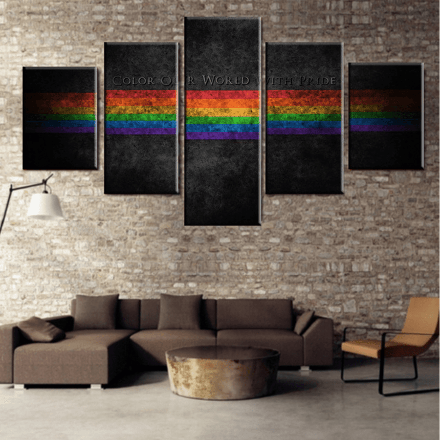 Color Our World With Pride Canvas Set