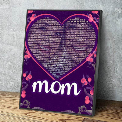 Custom Mother's Day Word Art Canvas Set