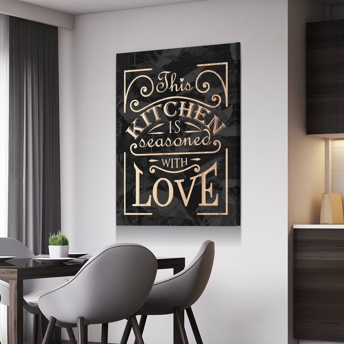 Seasoned With Love Kitchen And Dining Room Wall Decor Canvas Set Freaks