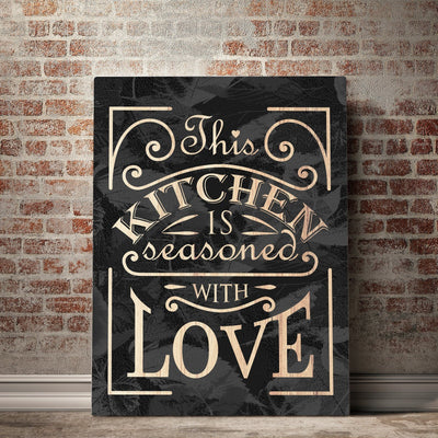 Seasoned with Love Kitchen and Dining Room Wall Decor Canvas Set