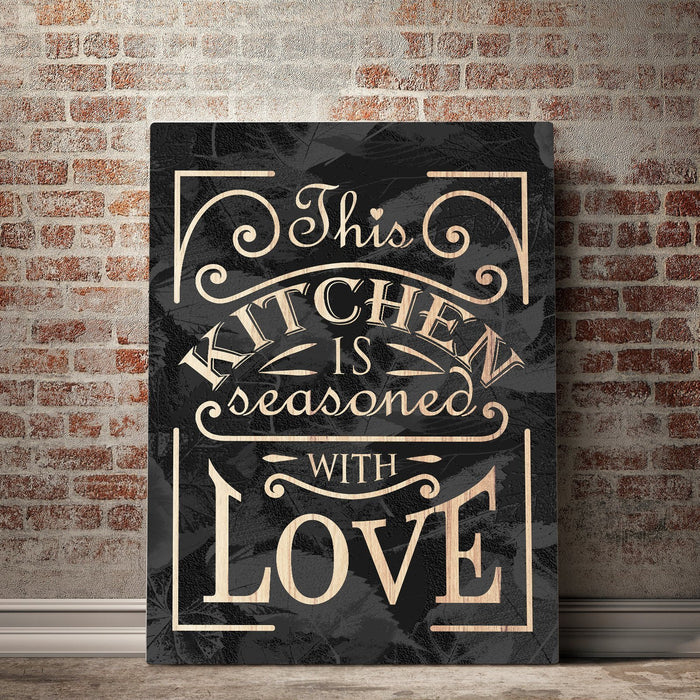Seasoned With Love Kitchen And Dining Room Wall Decor Canvas Set Canvas Freaks