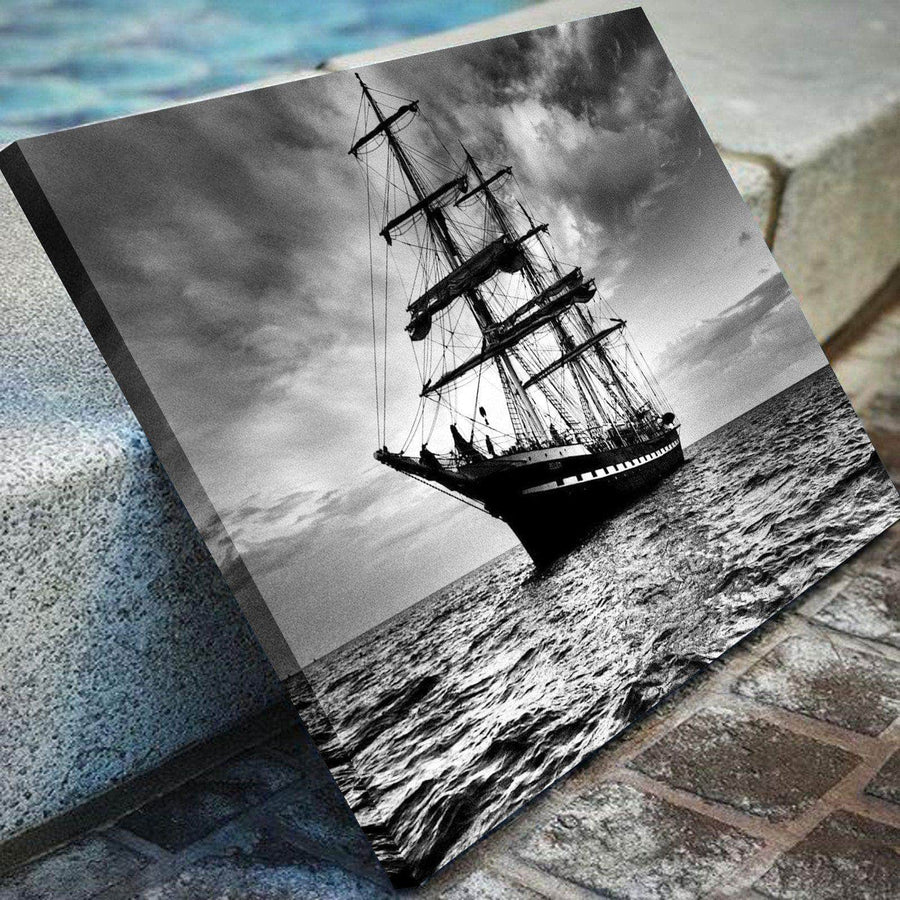 Ship at Night Canvas Set
