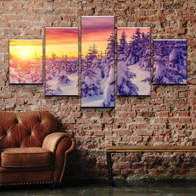 Snowcap Sunrise Canvas Set