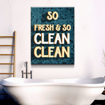 So Fresh So Clean Bathroom Canvas Set
