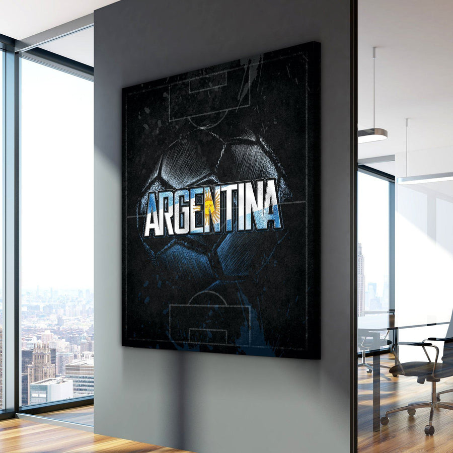 Argentina Soccer Canvas Set