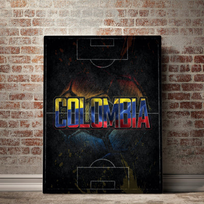 Colombia Soccer Canvas Set