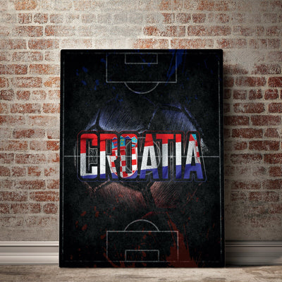 Croatia Soccer Canvas Set