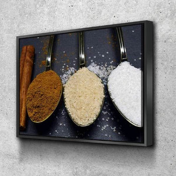 Spices Kitchen and Dining Room Wall Decor Canvas Set