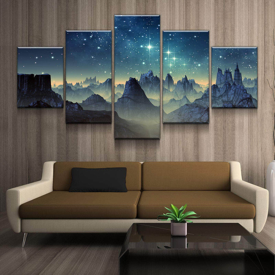 Starry Cliffside Canvas Set