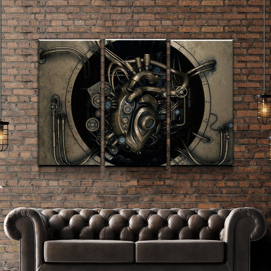 Steampunk's Heart Canvas Set