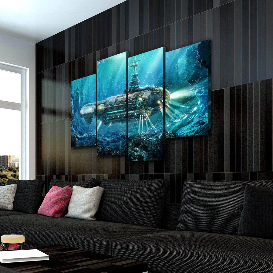 Steampunk Submarine Canvas Set