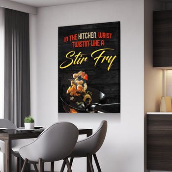Stir Fry Twistn' Kitchen and Dining Room Wall Decor Canvas Set