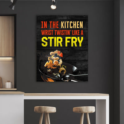 Stir Frying Kitchen and Dining Room Wall Decor Canvas Set
