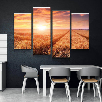 Sunset Harvest Canvas Set