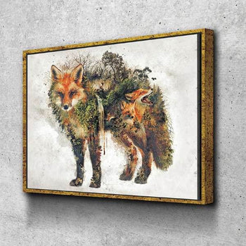 Surreal Fox Canvas Set