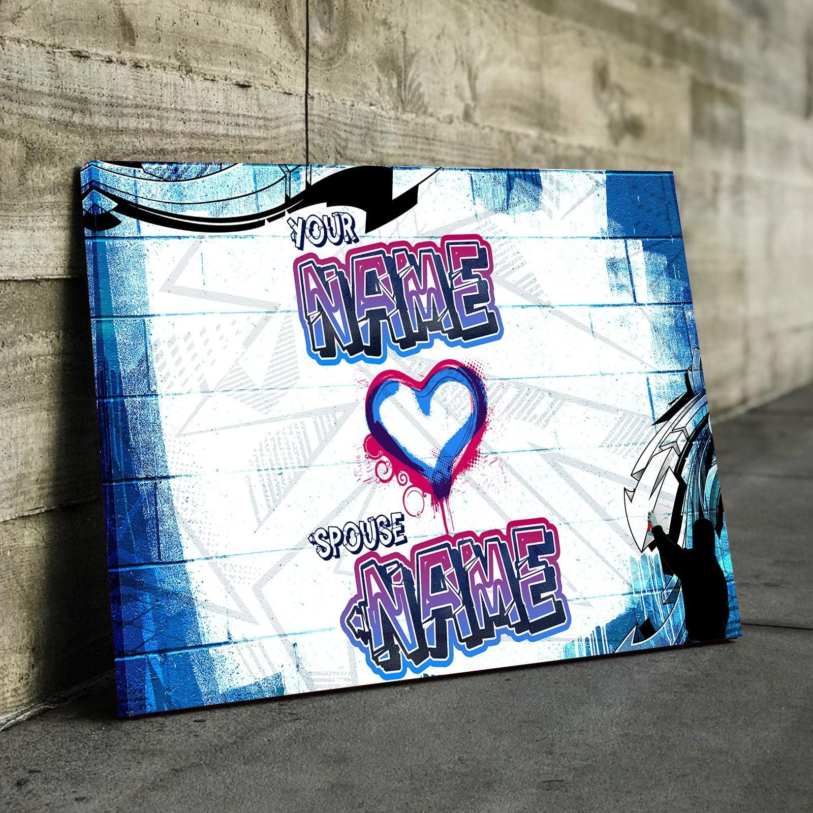 custom personalized tag your love canvas set canvas freaks