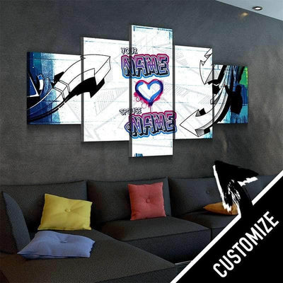 Custom Personalized Tag Your Love Canvas Set