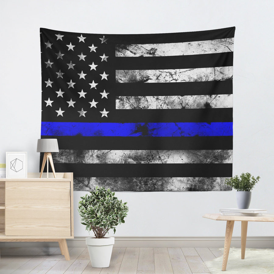 Thin Blue Line Tapestry