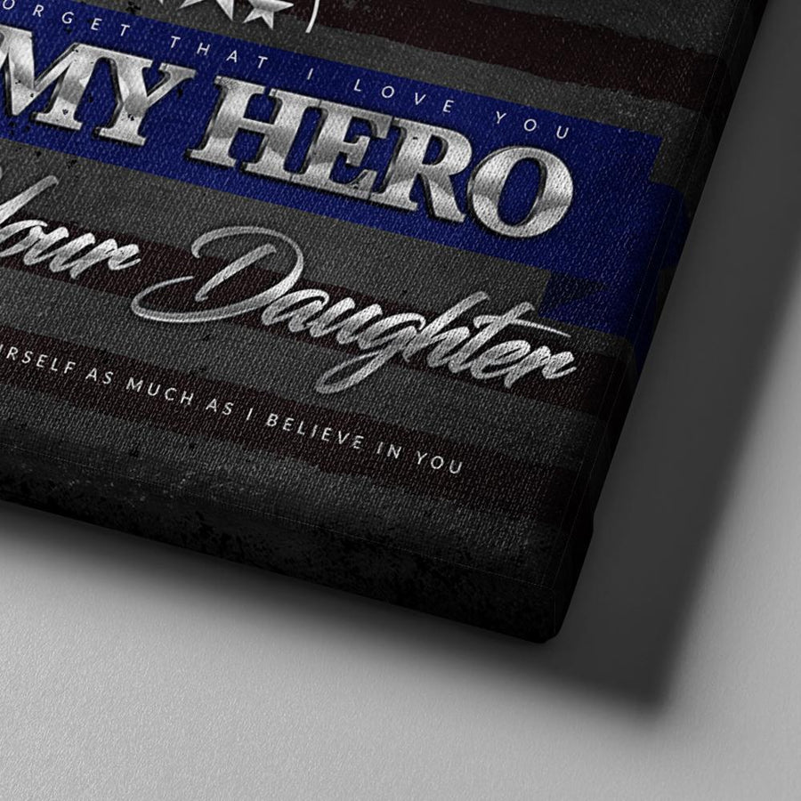 Thin Blue Line Hero Canvas Set