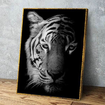 Tiger Face Portrait Canvas Set