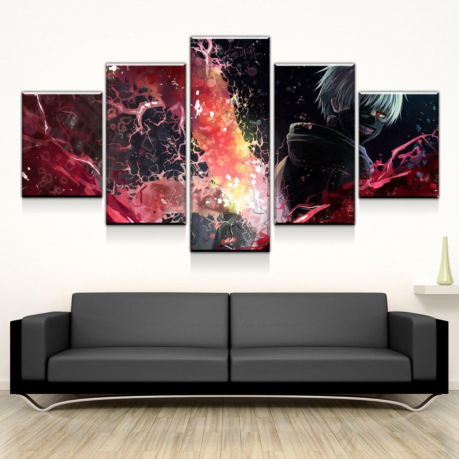 Anime canvas wall art canvas freaks tokyo ghoul magic art canvas set gumiabroncs Images