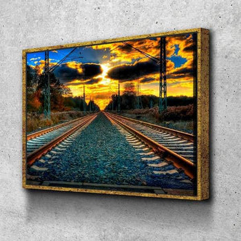 Train Tracks Canvas Set