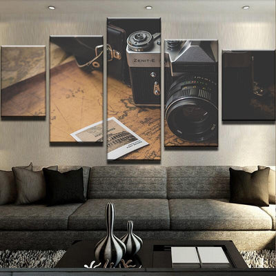Traveling Camera Canvas Set