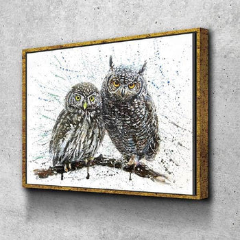 Two Little Owls Canvas Set