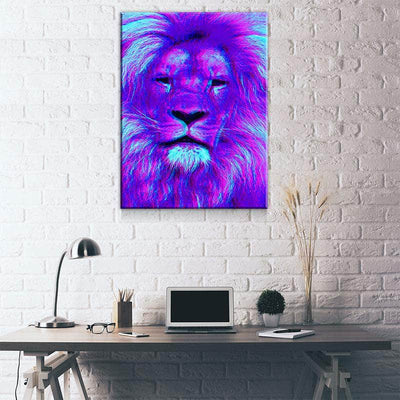 Ultraviolet Lion Canvas Set