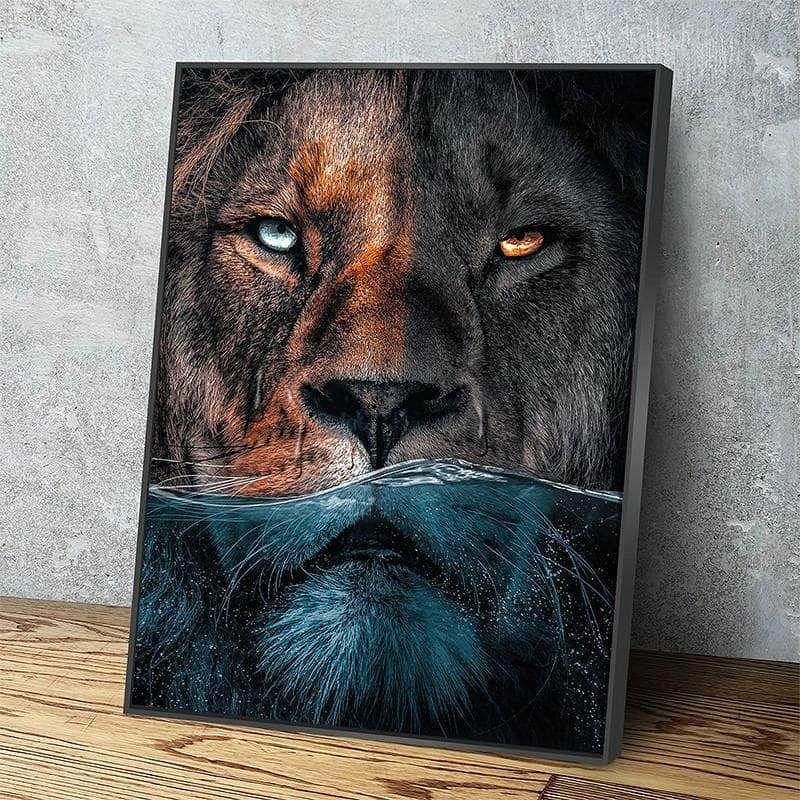 Underwater Lion Canvas Set