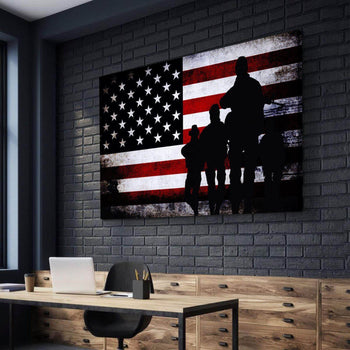Veterans Pride Canvas Set