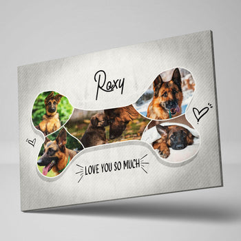 Dogs Best Friend Collage Custom Canvas Set